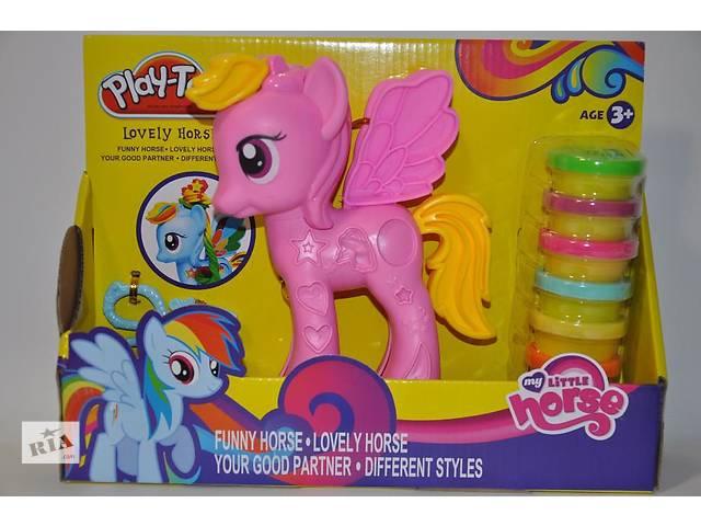 купить бу Набор для творчества Play-Toy Пластилин Тесто Пони my little pony 6 баночек в Ровно