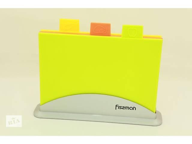 продам Набор Fissman 3 доски 30х20 см + подставка (AY-7239.CB)  бу в Киеве