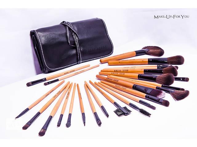 Набор кистей для макияжа в кожаном чехле Bobbi Brown, 24 шт- объявление о продаже  в Киеве