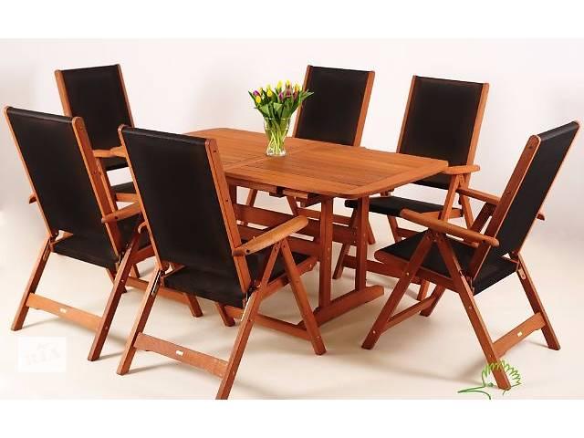 купить бу Набор садовой мебели, для террасы, кафе из дерева meranti black 200 в Тернополе