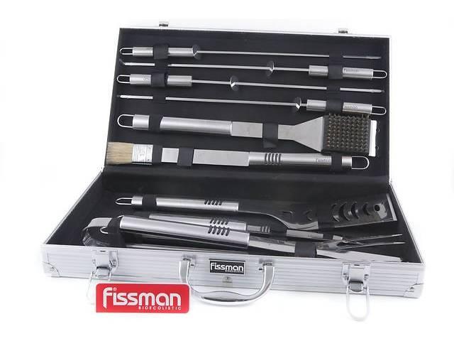 продам Набор инструментов для барбекю Fissman 10 предметов в чемодане (BQ-1014.10) бу в Киеве