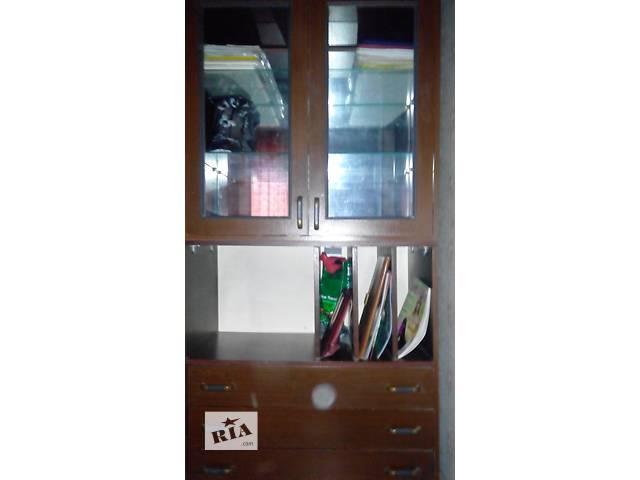 купить бу 50% скидка! Набор из 3-х удобных шкафов для небольшой комнаты или детской.Общая ширина 2,52 м.Цвет темная вишня. в Харькове