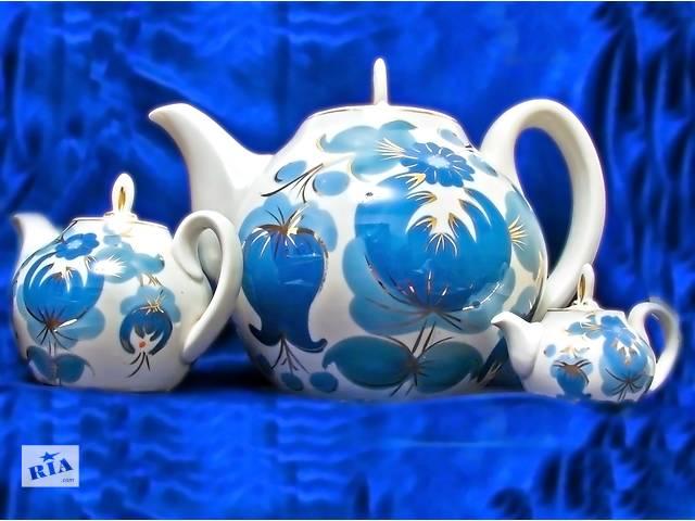 продам Набор из 3х заварных чайников. Стиль псевдо ля Рюсс. бу в Одессе