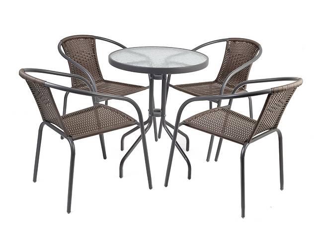 бу Набор мебели для сада, террасы BASIC ROUND 4 кресла, 1 стол в Тернополе