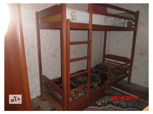 Надежная  массивная  двухъярусная кровать.- объявление о продаже  в Виннице