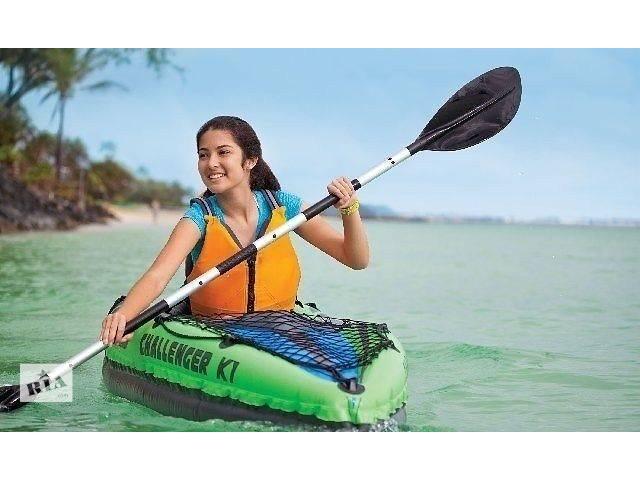купить бу Надувная лодка-байдарка Intex 68305 Challenger K1(274 x 76 x 38 cm) в Тернополе