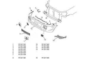 Новые Накладки бампера Hyundai Tucson