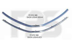 Новые Молдинги решетки радиатора Dacia Logan