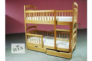 Напрямую от фабрики! Двухъярусная усиленная с 4 бортиками кровать-трансформер Карина Люкс+матрасы! Без предоплаты!