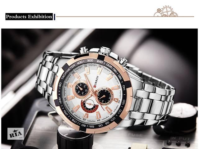 продам Наручные мужские часы CURREN SILVER BLACK бу в Кривом Роге (Днепропетровской обл.)