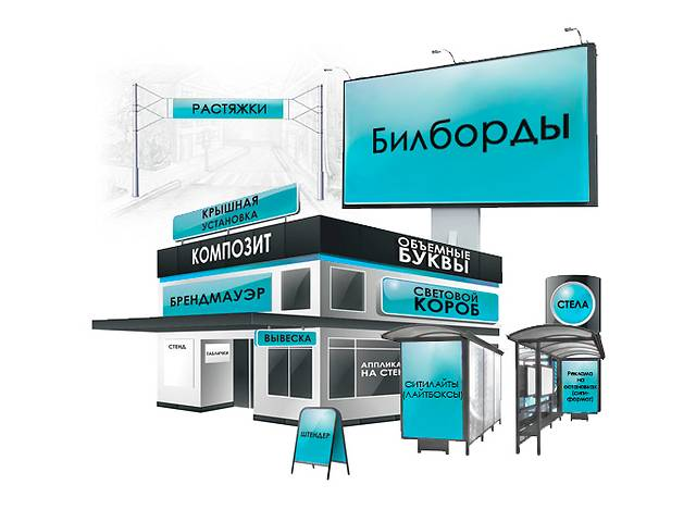 бу Наружная реклама (Новая Каховка) в Новой Каховке