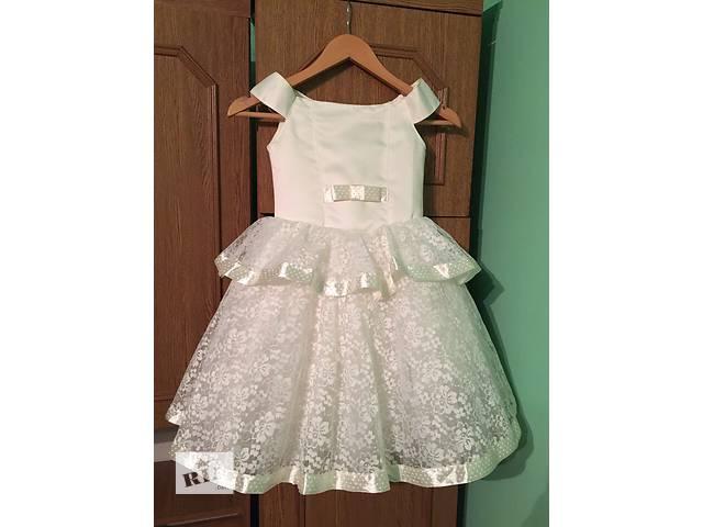 купить бу Нарядное детское платье праздничные снежинки дитяче святкове вечерние торжественные выпускные в Полтаве
