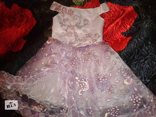 купить бу Нарядное детское платье праздничные снежинки детское праздничное вечерние в Полтаве