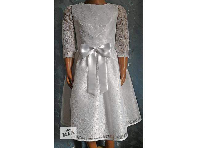 купить бу Нарядное детское платье с бантиком, белое, модель № 19 в Хмельницком