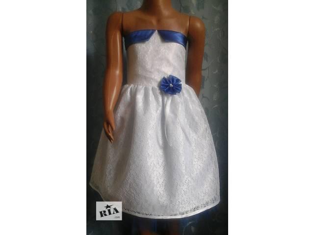 купить бу Нарядное детское платье с корсетом, белое, модель № 20 в Хмельницком