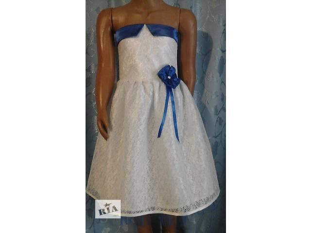 продам Нарядное детское платье с корсетом, белое, модель № 20 бу в Хмельницком