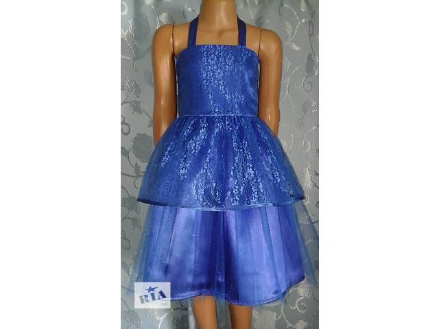 купить бу Нарядное детское платье с корсетом, синее, модель № 41 в Хмельницком