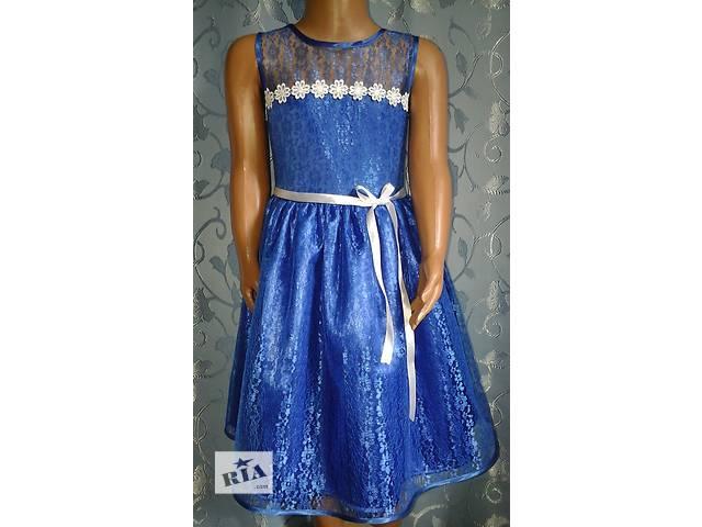 продам Нарядное детское платье, синее, модель № 21 бу в Хмельницком