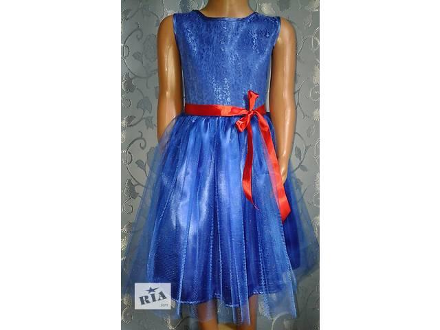 бу Нарядное детское платье, синее, модель № 22 в Хмельницком