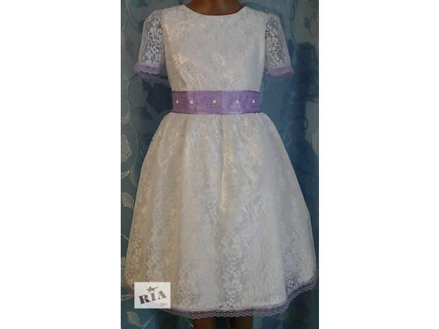 бу Нарядное детское платье, из гипюра с кружевом, модель № 13 в Хмельницком