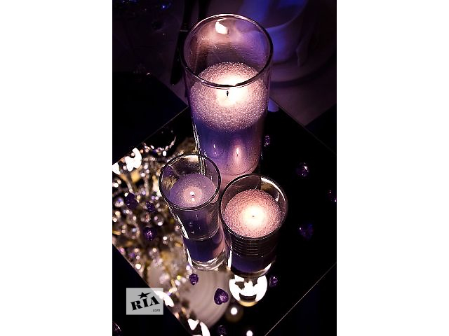 купить бу Насыпные свечи, пальмовый воск, жемчужная свеча, свадебные свечи, аренда, прокат, продажа 37 грн. в Харькове