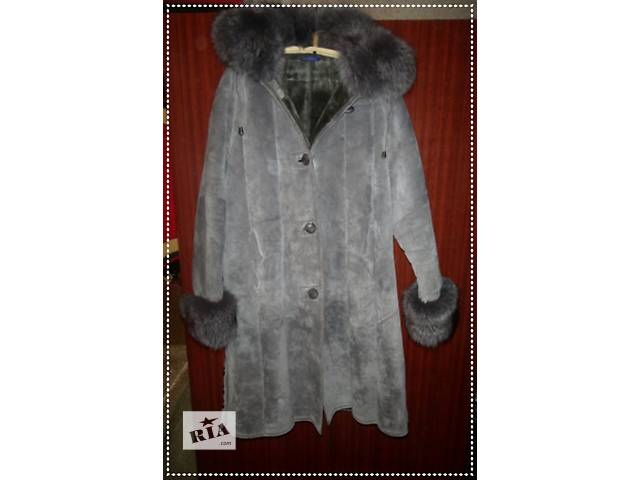 Натуральная дубленочка серого цвета на овчине- объявление о продаже  в Черновцах