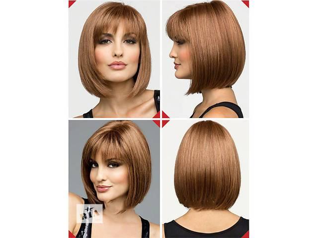 продам Натуральный парик каре рыжий из натуральных волос новый с ровной чёлкой, прямой волос бу в Киеве