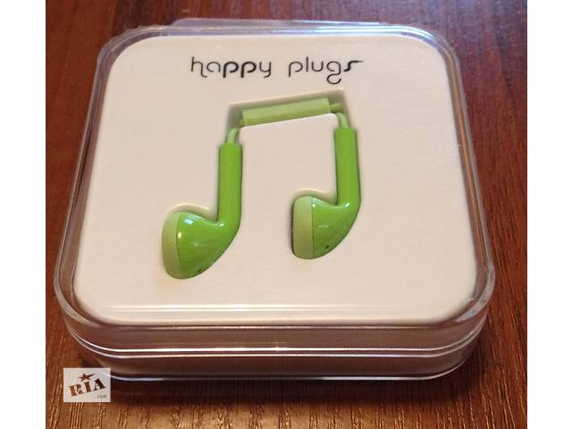 Наушники гарнитура проводная Happy Plugs Headphones In-Ear Green (7719) новая- объявление о продаже  в Киеве