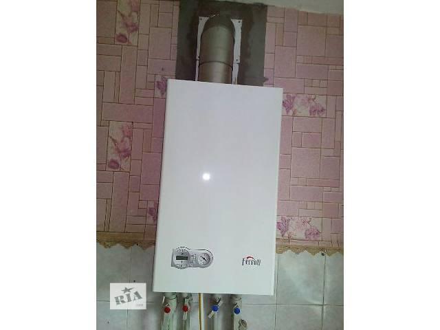 купить бу Навесной газовый котел Ferroli Domiproject C24D в Очакове