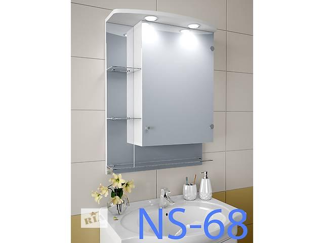 продам Навесной, зеркальный шкаф для ванной комнаты NS-68 бу в Киеве