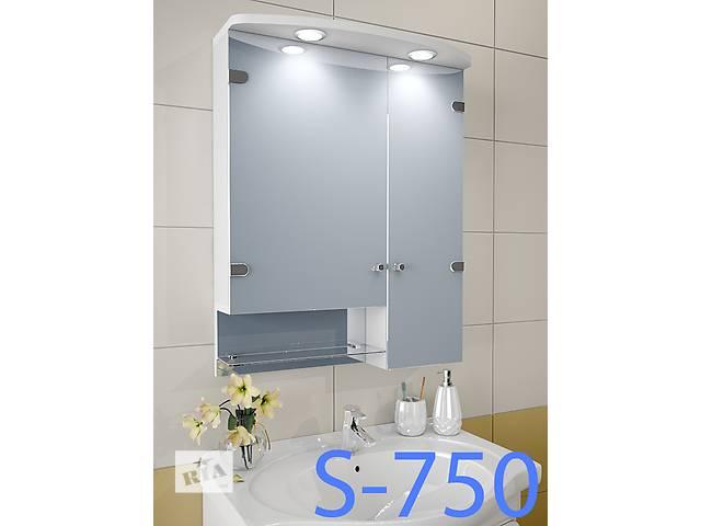 купить бу Навесной, зеркальный шкаф для ванной комнаты S-750 в Киеве