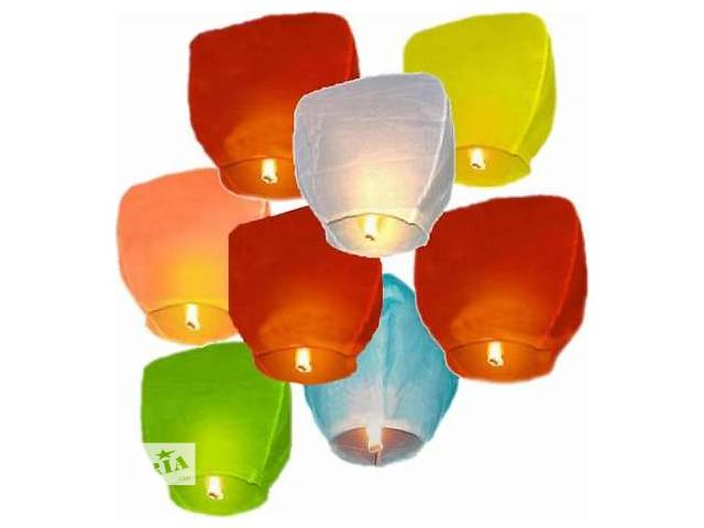 продам Небесные китайские летающие фонарики, небесні ліхтарики Купол и Сердце бу в Киеве
