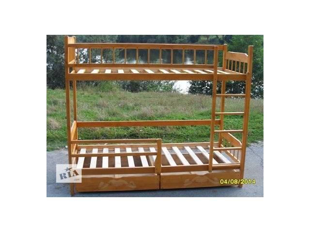 бу Недорогая Двухъярусная кровать с дерева ольхи. в Виннице
