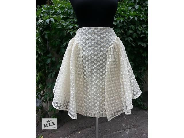 Необычная юбка от ирландского дизайнера Simone Rocha, новая, цвет - кремовый.- объявление о продаже  в Киеве