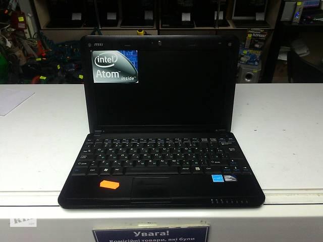 купить бу нетбук MSI 10.1 n270 2ядра, 1 озу 160 жесткий диск в Виннице