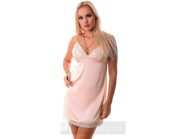 Нежная персиковая ночнушка из шелка, пеньюар- объявление о продаже  в Харькове