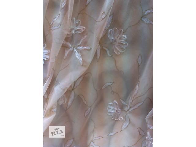 продам Нежная штора и покрывало из вышитого кружевного полотна Armonia Di Interni бу в Киеве