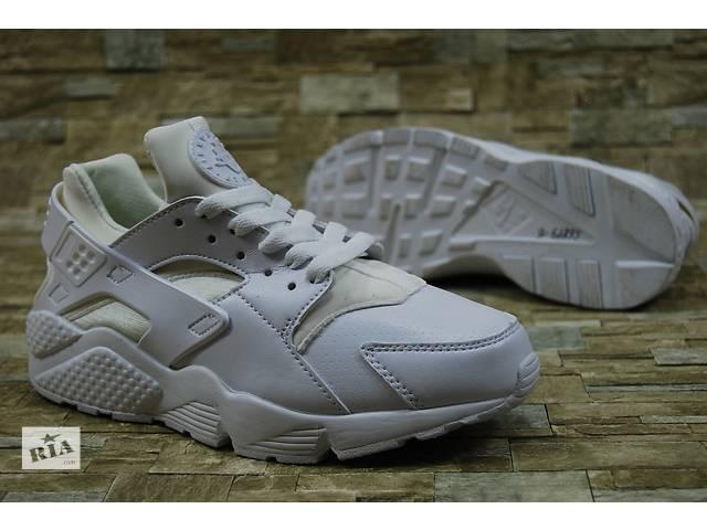 купить бу Nike Huarache Женские Белые кроссовки Найк Хуарачи Натуральная кожа в Киеве