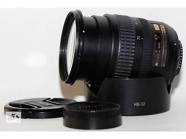 Nikon 18-70mm f/3.5-4.5G IF-ED AF-S DX - объявление о продаже  в Новограде-Волынском