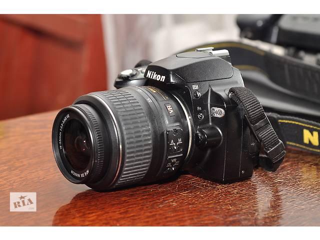 купить бу Nikon D40х + объектив 18-55 в Ровно