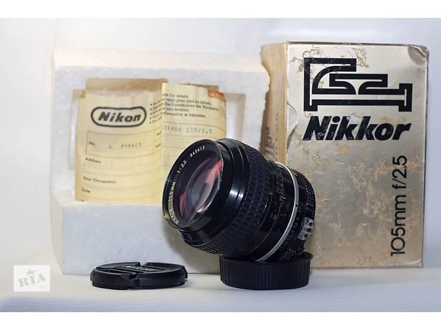 Nikon Nikkor 105mm f/2.5 AI- объявление о продаже  в Новограде-Волынском