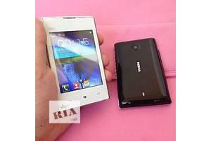 Nokia Asha 520 2-СИМ! Экран 3.2 Дюйма! Java! Телефон с Чехлом!