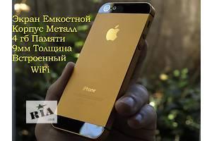 Apple iphone 5 GOLD Нового поколения + Емкостной экран 4 дюйма Супер скорость! Корпус Металл + WiFi +4гб Памяти