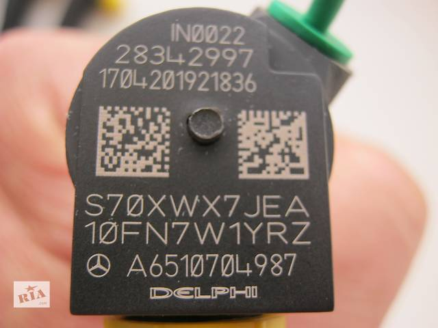 продам A6510700587 A6510704987 форсунка паливна DELPHI 28342997 Mercedes Sprinter 316 906 Viano EMBR00002D Delphi 651 мотор. бу в Луцке