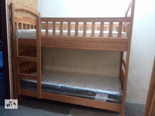 Новая двухъярусная детская кровать «Эко-Люкс-Ольха» (без нижних бортиков) + акция- объявление о продаже  в Киеве