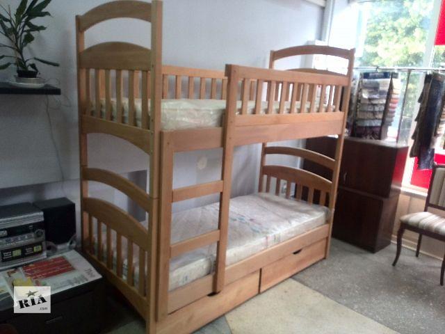 купить бу Новая двухъярусная кровать «Эко-Люкс-Бук» без нижних бортиков + акция! в Киеве