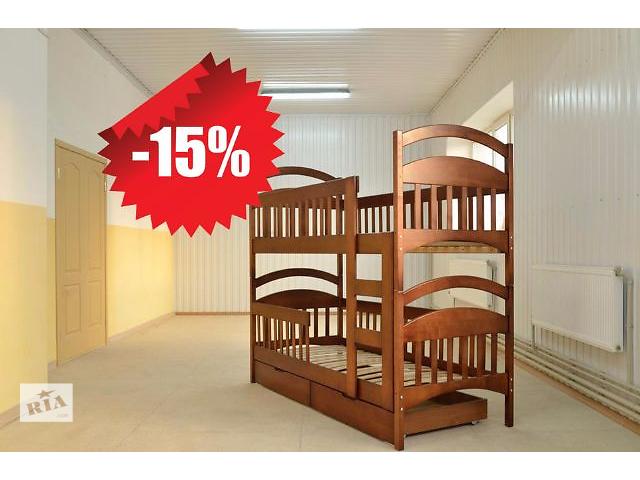 продам Новая двухъярусная кровать трансформер Карина, из столярного цеха бу в Киеве