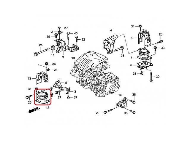 продам Новая подушка мотора Acura MDX бу в Киеве