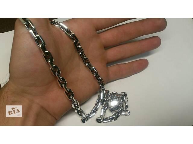 Новая серебряная цепочка.  Покрытие -Платина . ЯКОРЬ- объявление о продаже  в Киеве