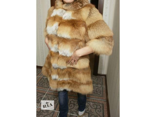 купить бу Новая шубка из меха лисы с капюшоном в Киеве